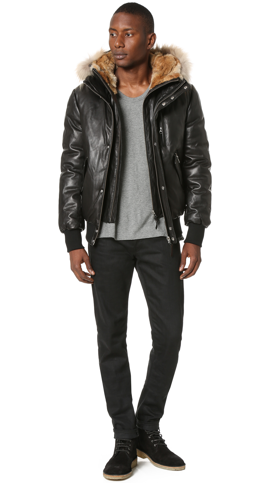 Mackage Glen Leather Bomber | EAST DANE Use Code EDNC18 for 15% Off