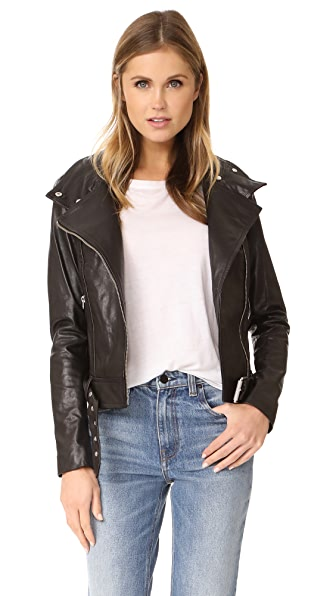 Mackage Hania Washed Leather Jacket