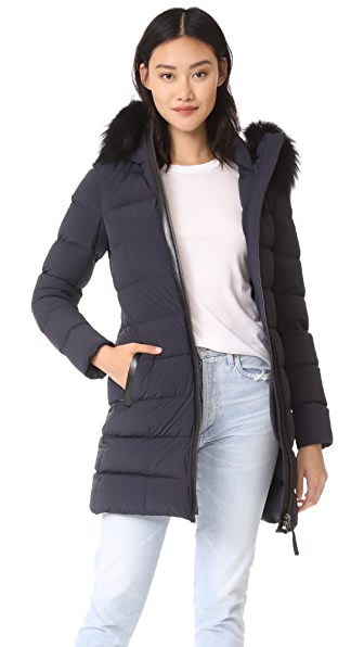 Mackage Calla Down Jacket In Navy
