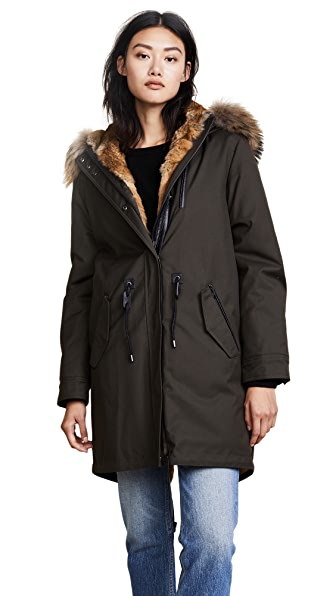 Mackage Rena Parka In Army/Natural