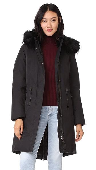 Mackage Enia Down Jacket with Fur Hood - Black