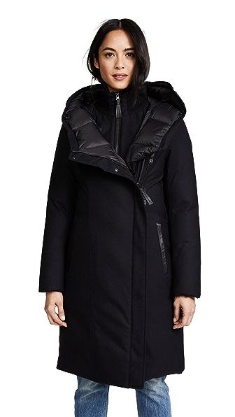 Mackage Mari Wool Jacket In Navy