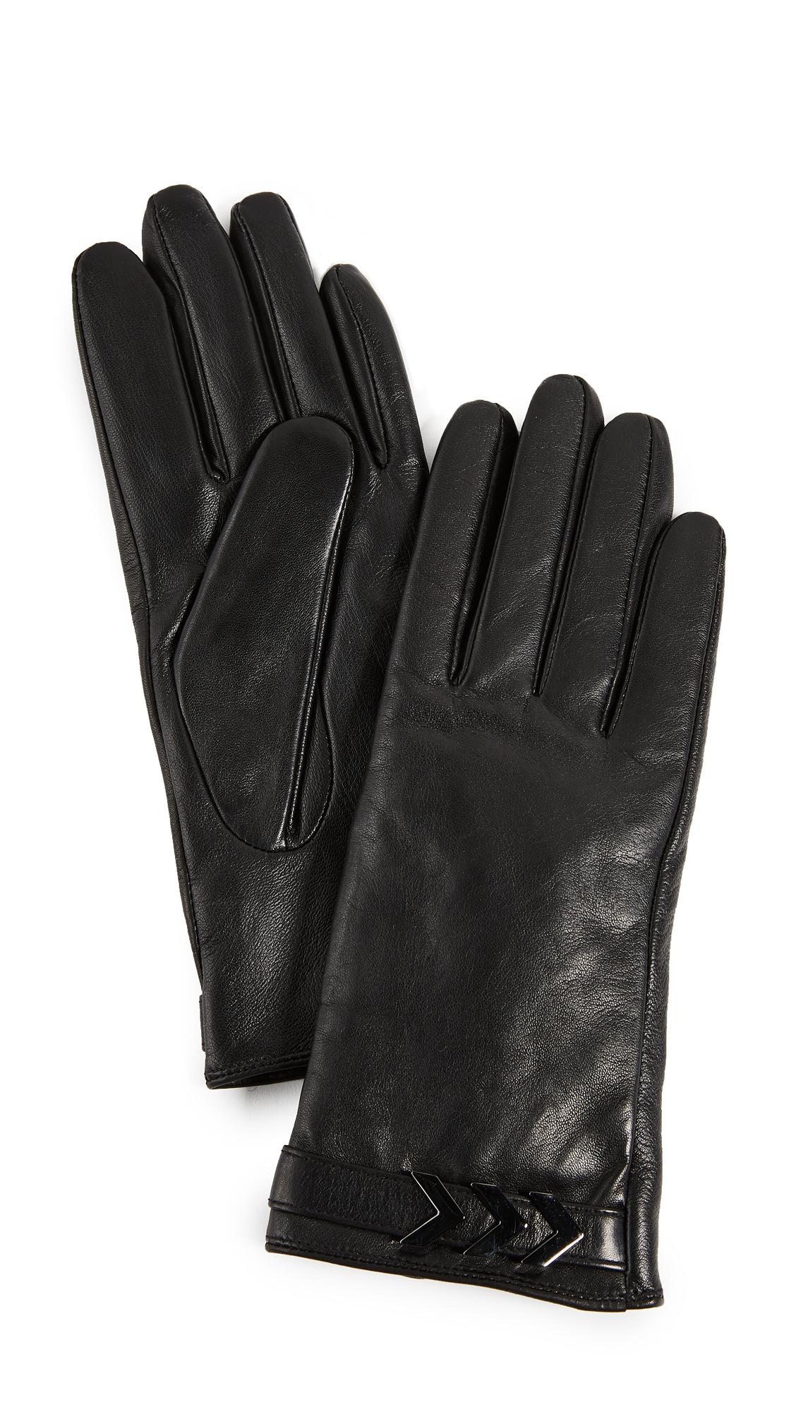 Mackage Boga Leather Tech Gloves - Black