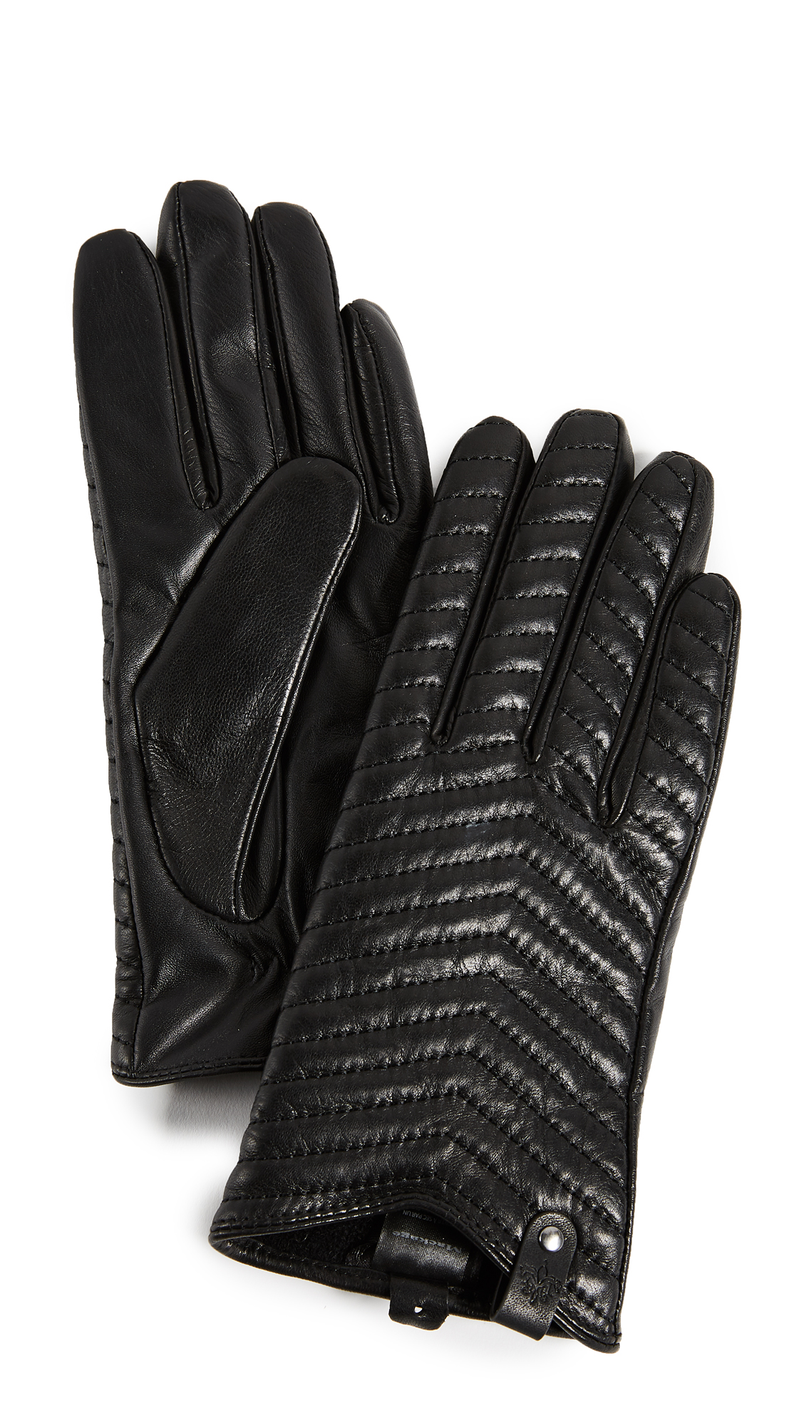 Mackage Cano Leather Tech Gloves - Black