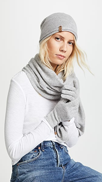 Mackage Zozo Cashmere Scarf, Hat, and Gloves Set