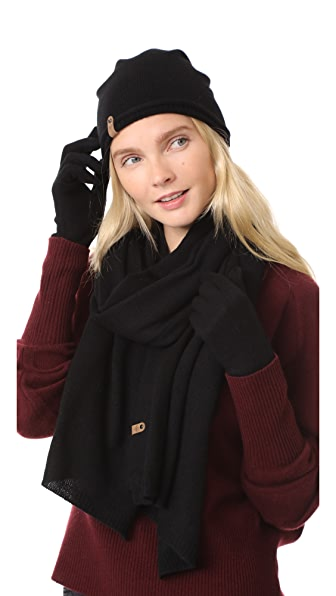 Mackage Zozo Cashmere Set In Black