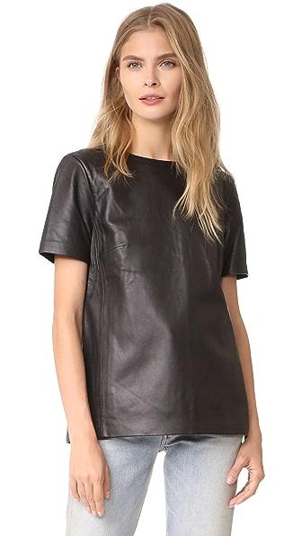 Mackage Tatiana Leather Top - Black