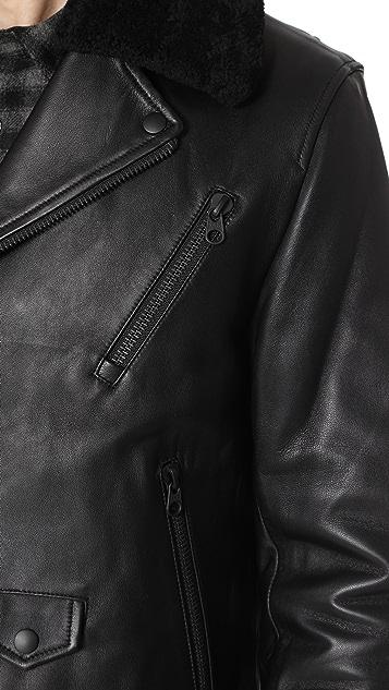 Mackage Roan Leather Moto Jacket