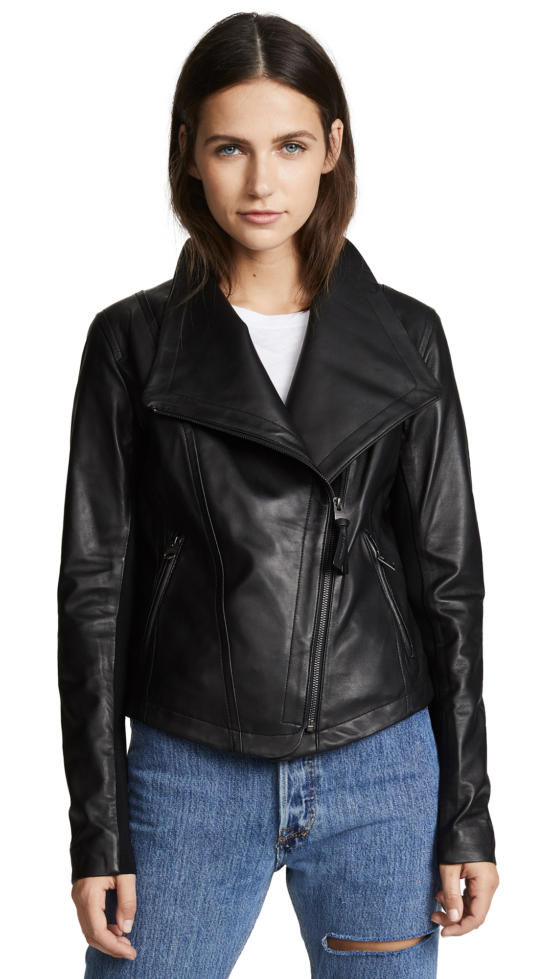 Mackage Pina Leather Jacket In Black