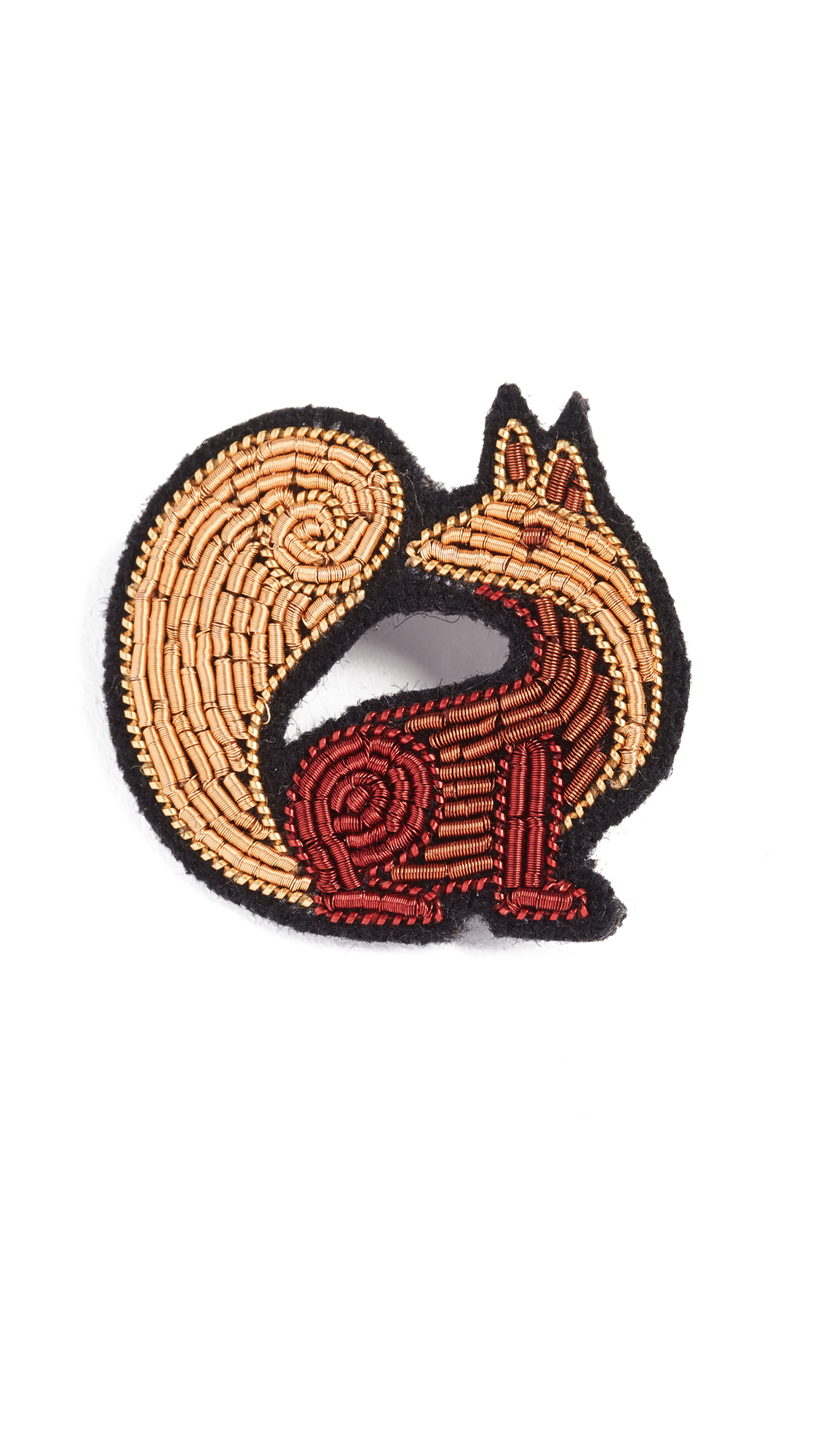MACON & LESQUOY Fox Pin in Gold