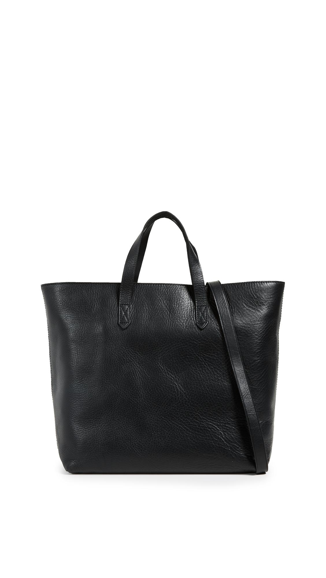 Madewell Zipper Transport Bag - Black/Black