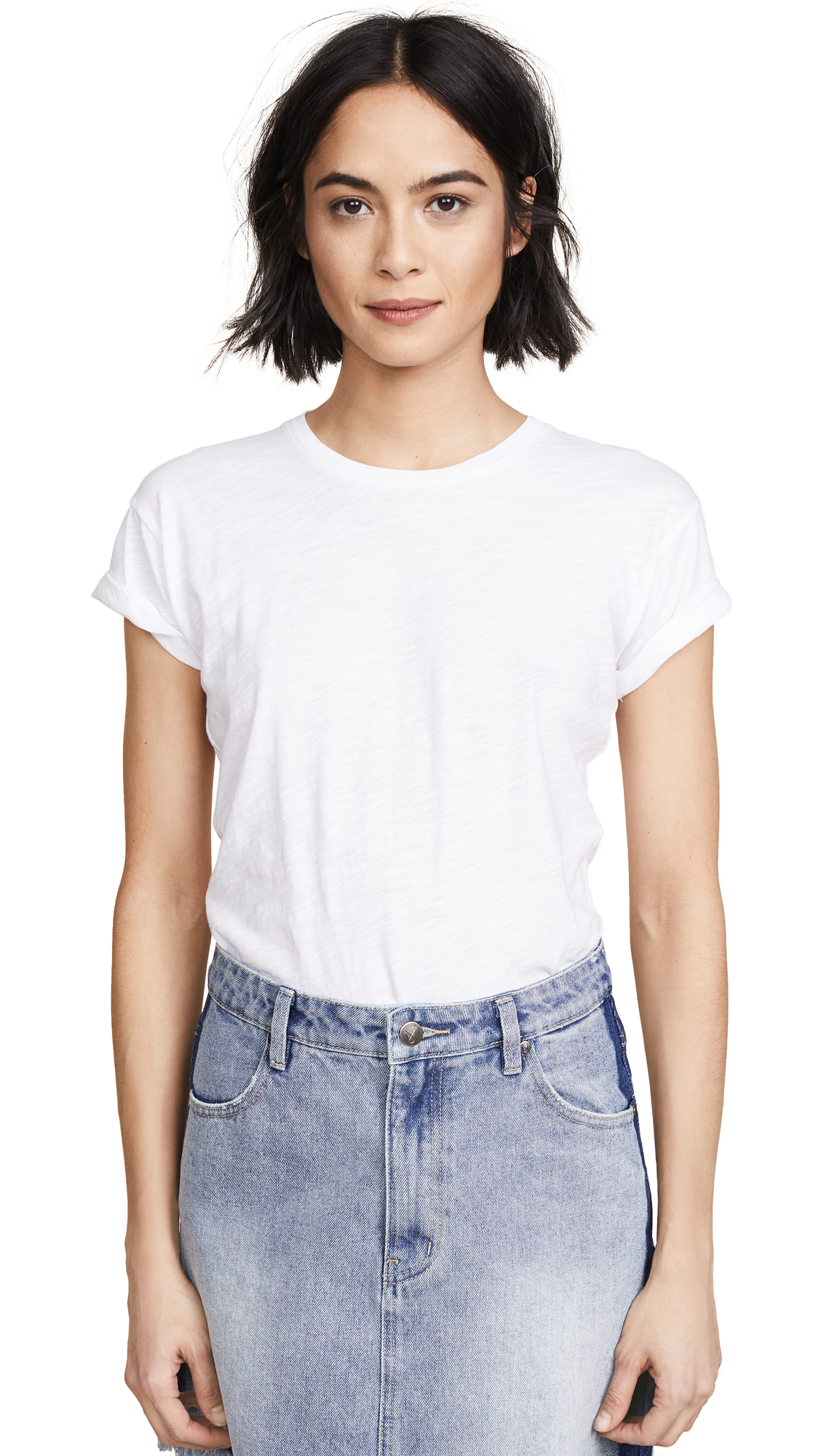 Madewell Whisper Cotton Crew Tee - Optic White