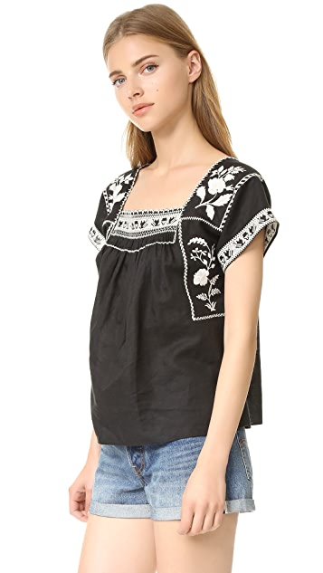 Madewell Embroidered Wildfield Top