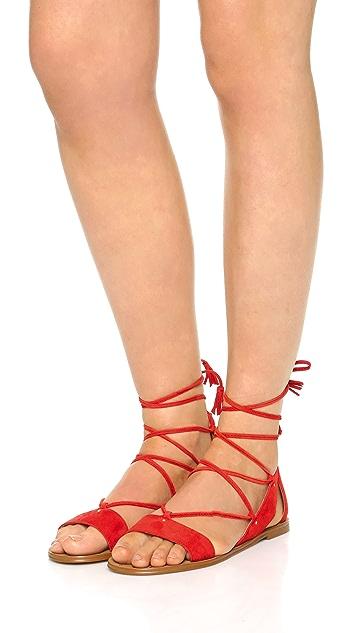 Madewell Bridget Lace Up Gladiator Sandals