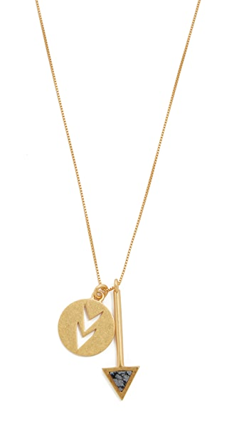 Madewell Arrowstone Necklace In Vintage Gold
