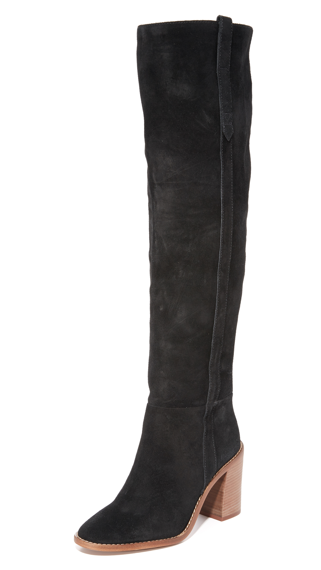 Madewell Jimi Over The Knee Boots - True Black