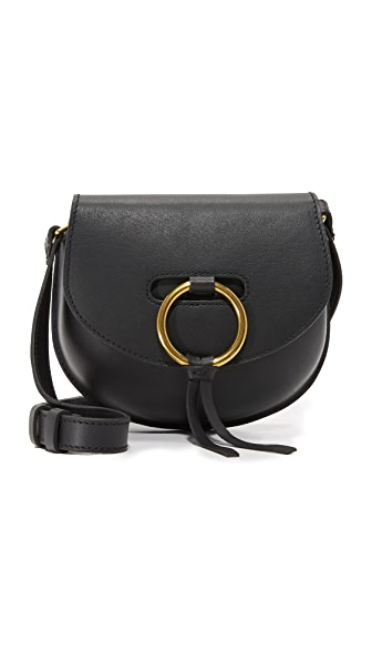 Madewell O Ring Mini Saddle Bag - True Black