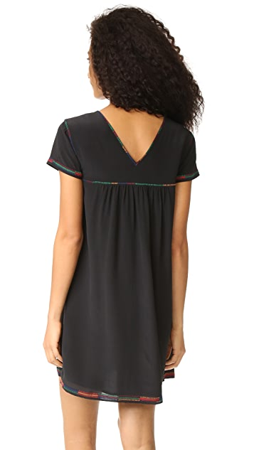 Madewell Embroidered Peasant Dress