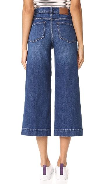 Madewell Wide Leg Indigo Jeans