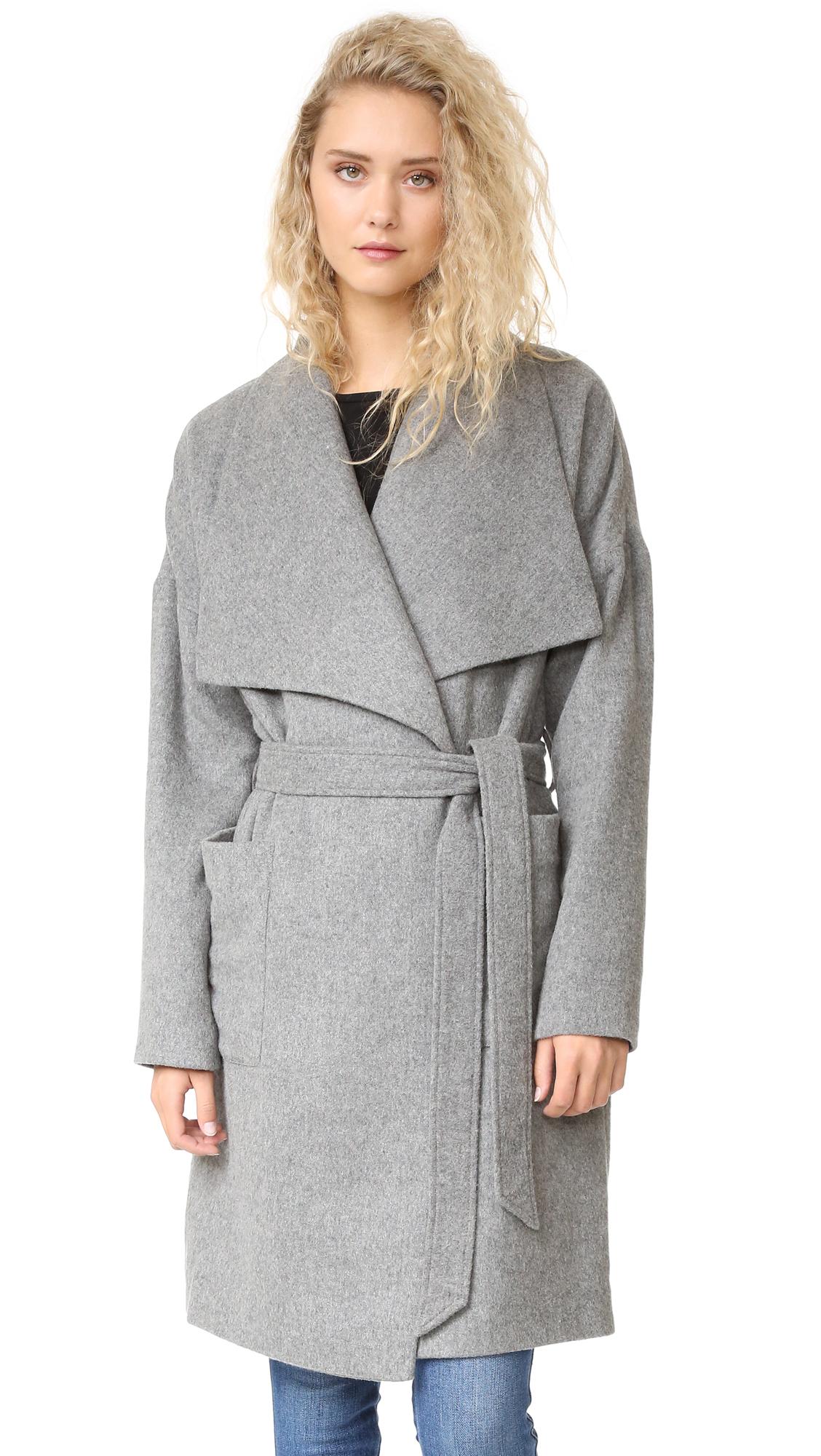 Madewell Delancey Blanket Coat - Heather Grey