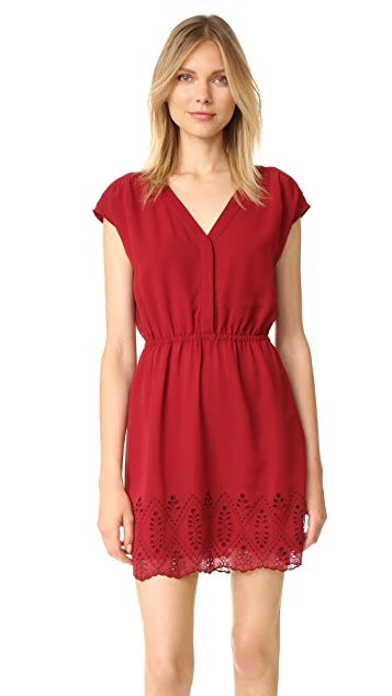 Madewell Short Sleeve Dress with Embroidery