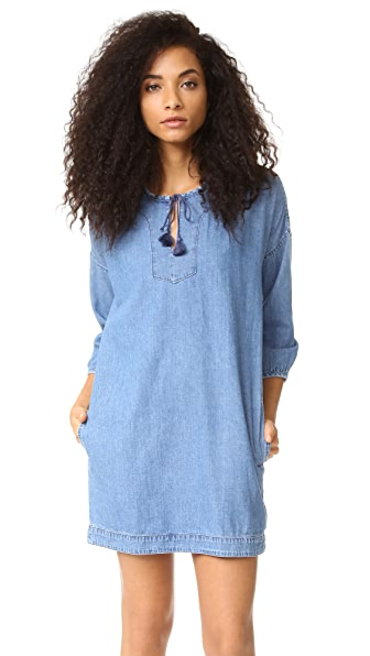 Madewell Denim Tassel Dress - Jayne Wash