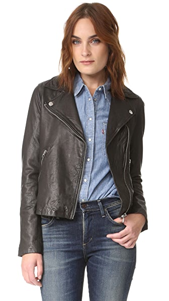 Madewell Washed Leather Motorcycle Jacket at Shopbop