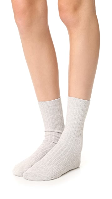 Madewell Two Pack Ribbed Heather Trouser Socks