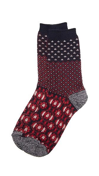 Madewell Pattern Colorblock Trouser Socks