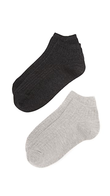 Madewell Heathered Ribbed Low Sock Set