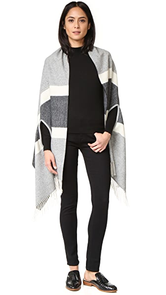 Madewell Cape Scarf in Woodward Stripe