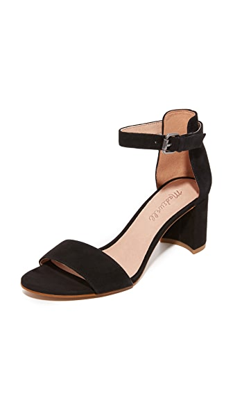 Madewell Lainy Suede Sandals - True Black