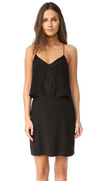 Madewell Lace Inset Silk Dress