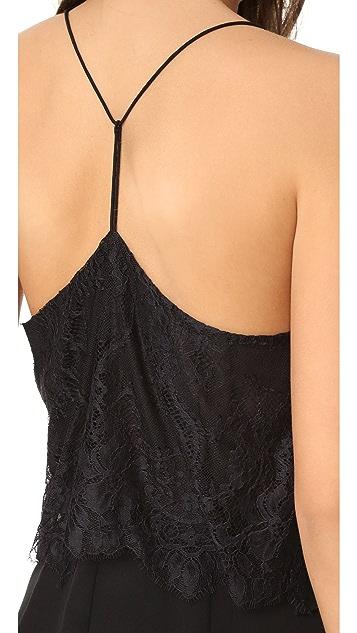 Madewell Lace Inset Silk Dress