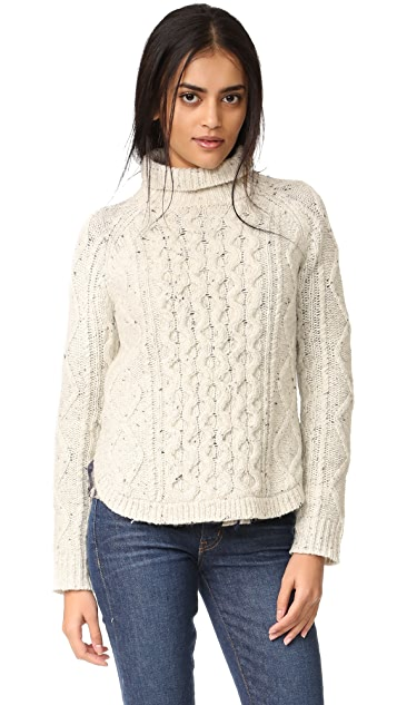 Madewell Cable Mix Turtleneck Sweater