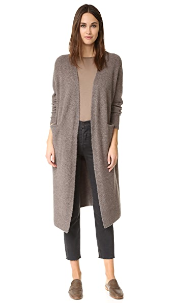 Madewell Long & Lean Cardigan - Heather Moose