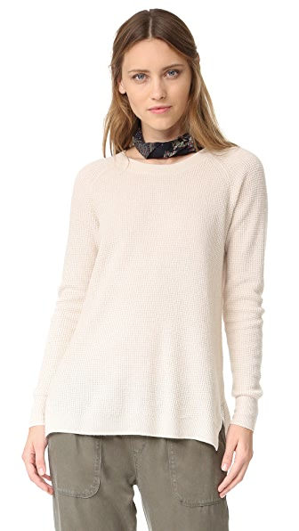 Madewell Solid Helena Sweater - Heather Cement