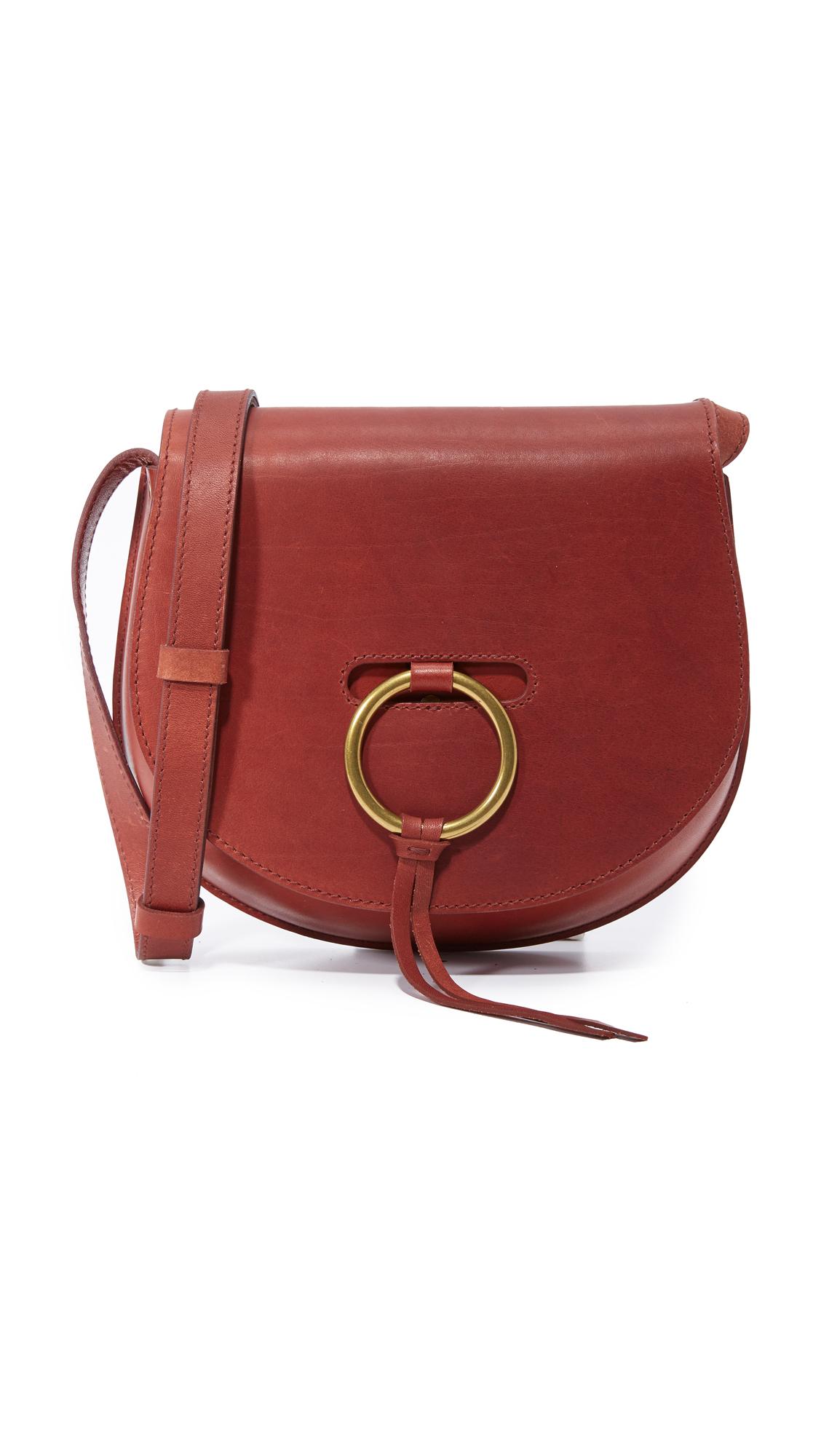 madewell female 125137 madewell o ring saddle bag burnished mahogany