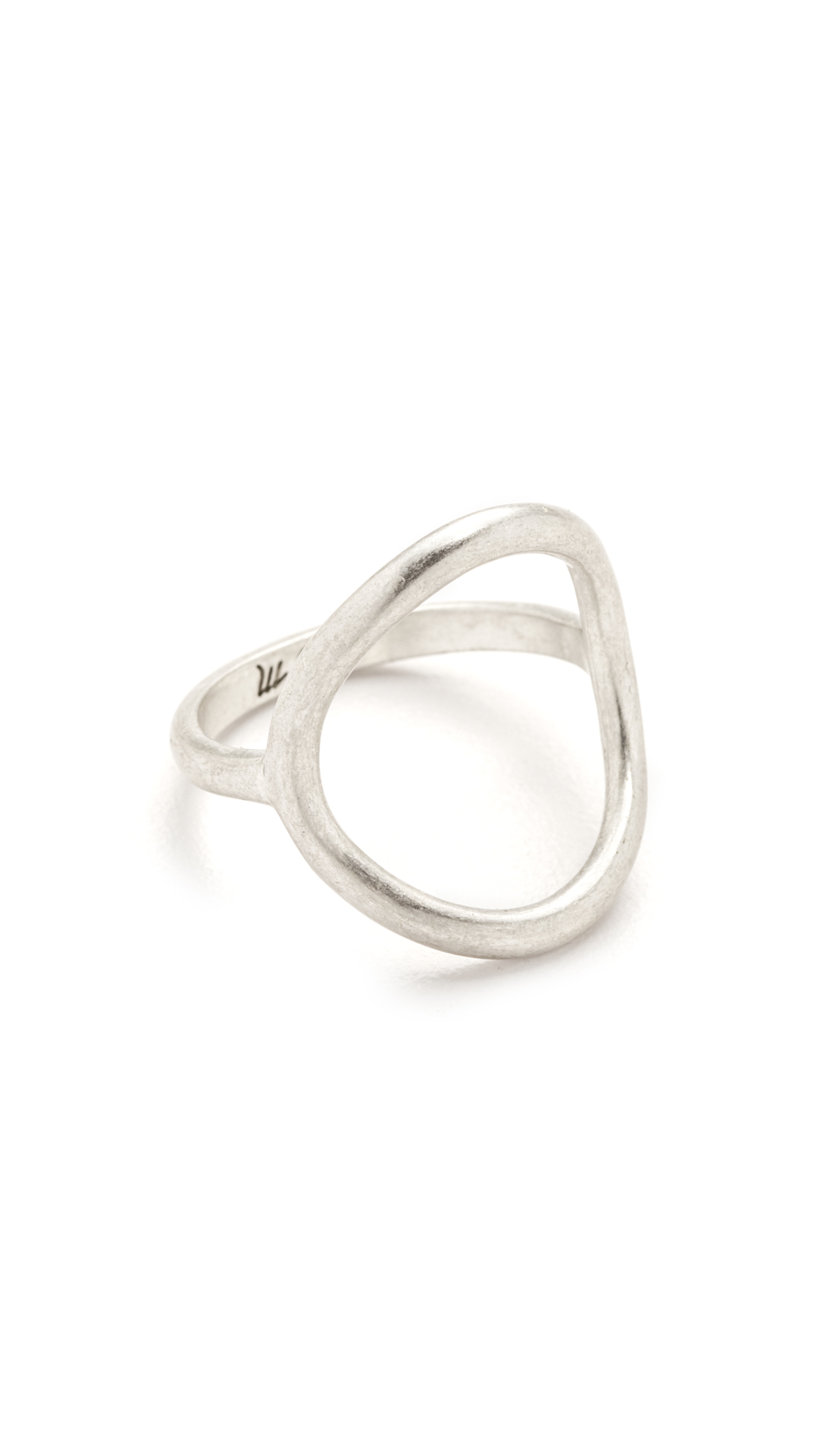 Madewell Ceremony Circle Ring - Dark Silver