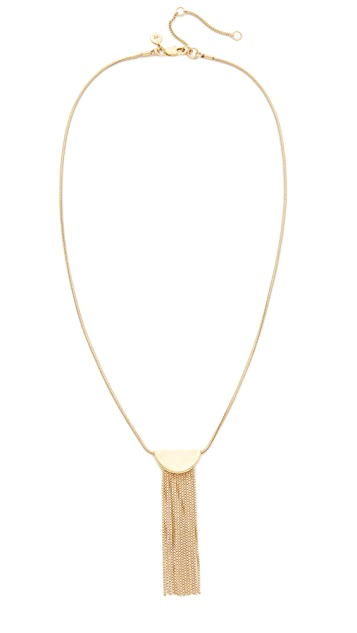 Madewell Half Circle Necklace With Fringe