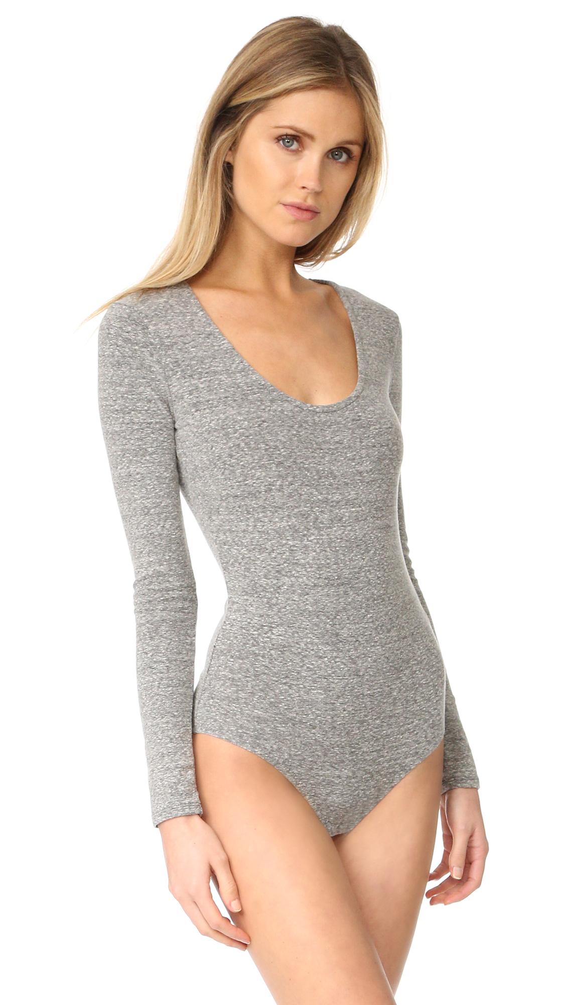 53e14dba37 Madewell Stevie Scoop Neck Long Sleeve Bodysuit