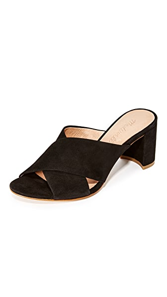 Madewell Greer Mule Sandals - True Black