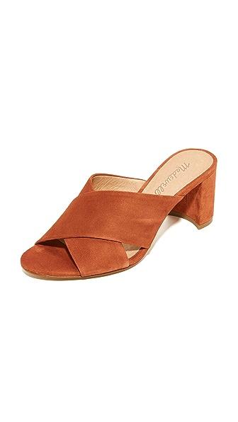 Madewell Greer Mule Sandals - Warm Nutmeg