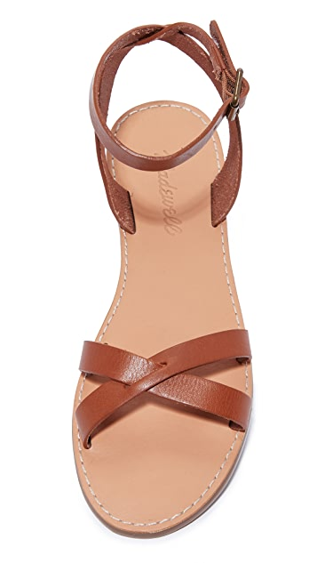 Madewell Boardwalk Ankle Wrap Sandals
