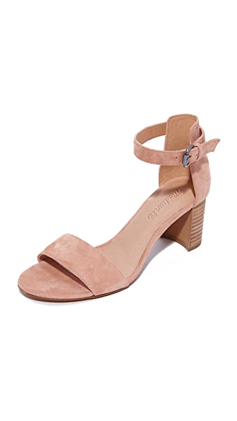 Madewell Lainy Ankle Strap City Heels - Dusty Clay