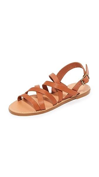 Madewell Boardwalk Multi Strap Sandals - English Saddle