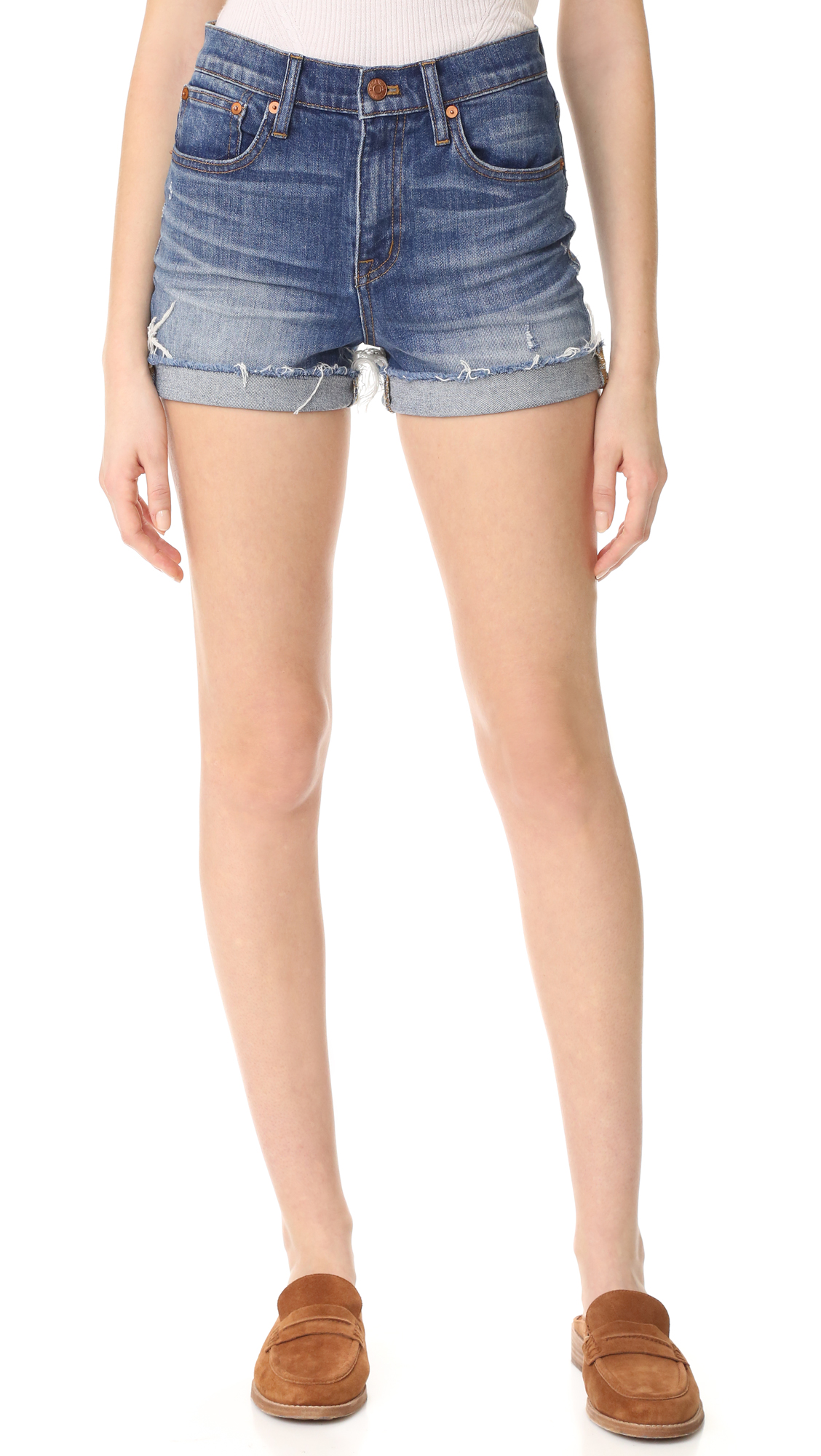 42bce15d53c Madewell High Rise Denim Boy Shorts in Glen Oaks