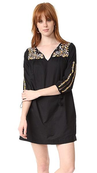 Фото Madewell Платье с вышивкой и рукавами с разрезами. Купить с доставкой
