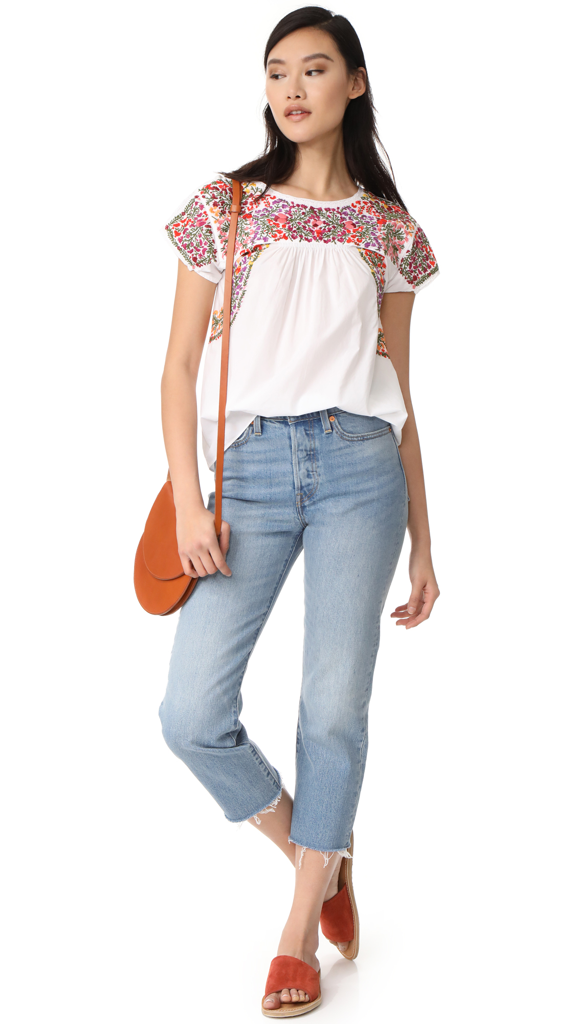 484e8897a86680 Madewell Fleur Embroidered Top