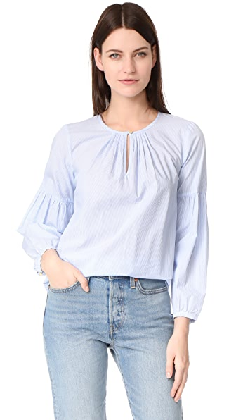 Madewell Pinstripe Blouse